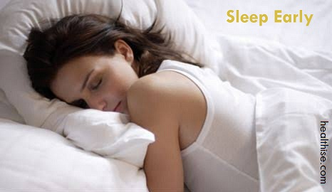sleep early to stop overeating