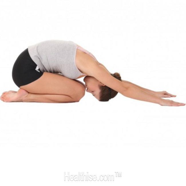 yoga stress Child's Pose Balasana
