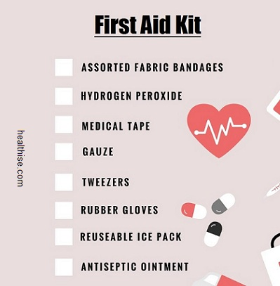 first-aid kit health precaution