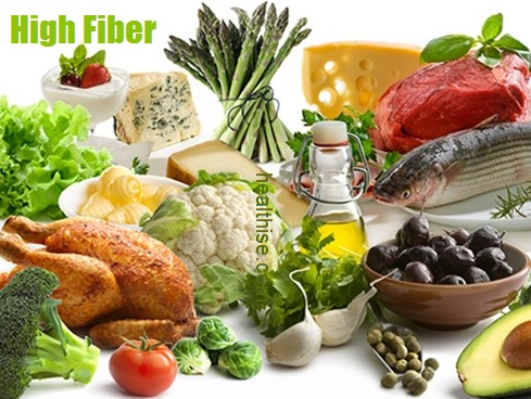 high fiber vegetables food