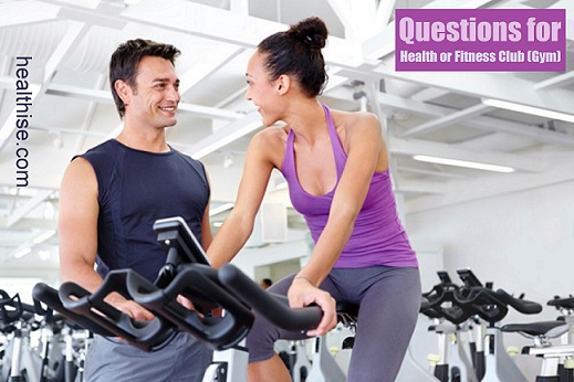 gym fitness club checklist for exercise